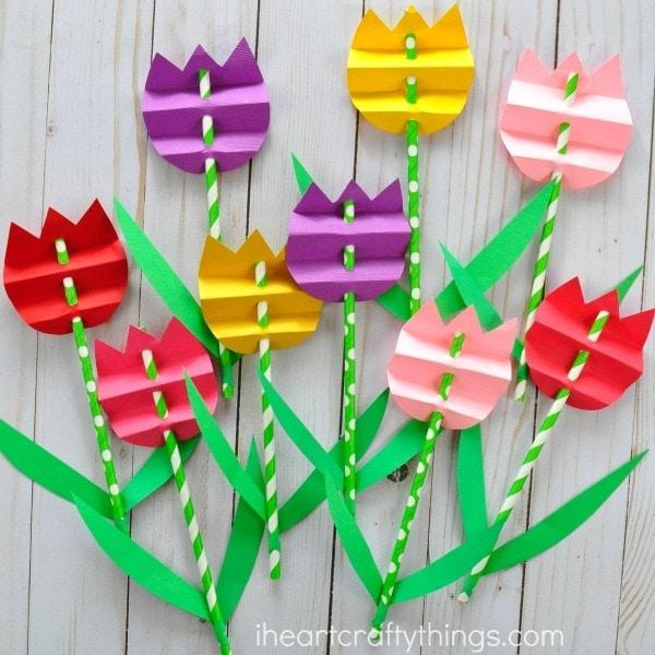 tulipán készítés virágboltos játékhoz
