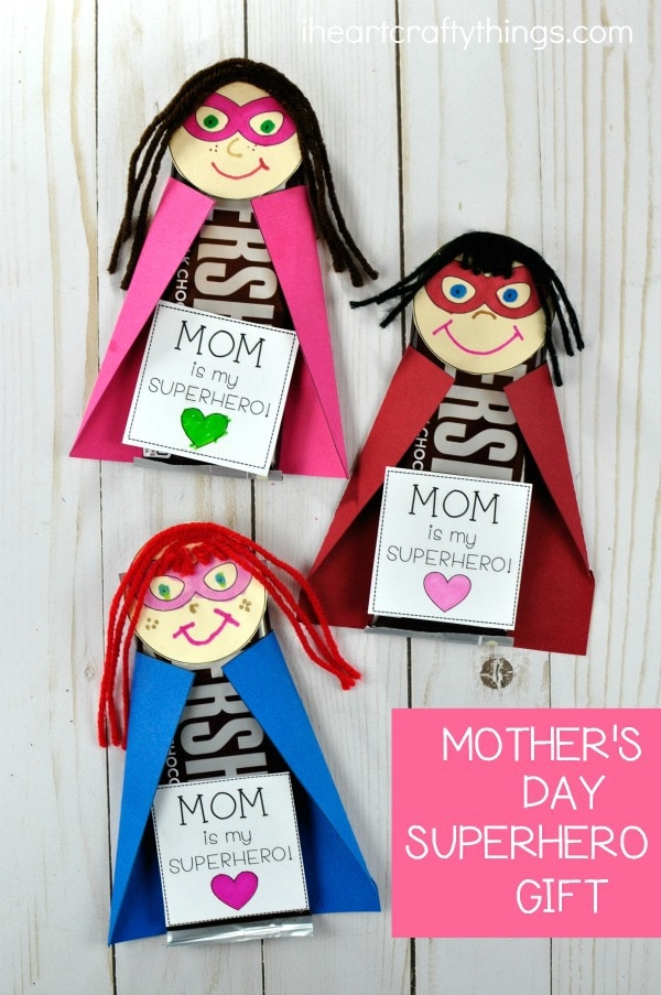 DIY Superhero Mother's Day Gift | I Heart Crafty Things