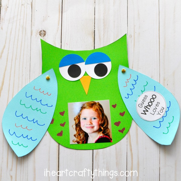 Guess Whooo Loves You Fathers Day Kids Craft