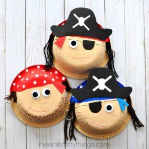 Cute Paper Bowl Pirate Craft