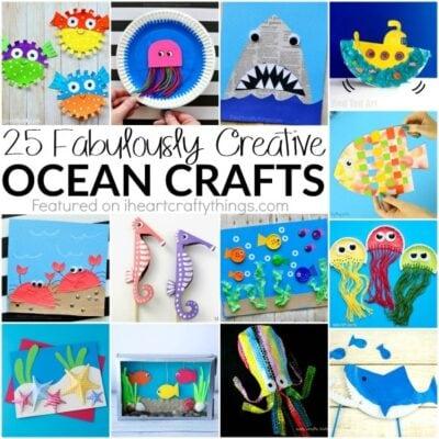 25 Fabulously Creative Ocean Crafts