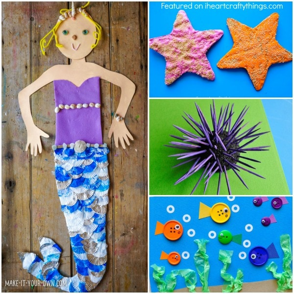 25 fabulously creative ocean crafts i heart crafty things for Sea life arts and crafts