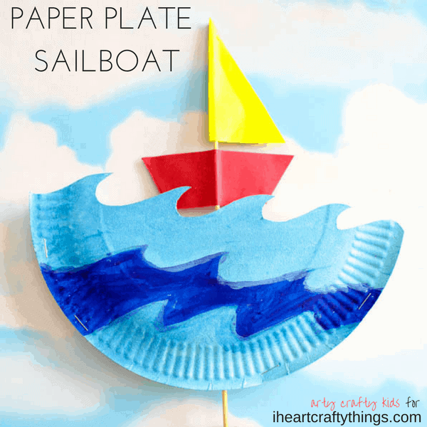 Interactive Paper Plate Sailboat Craft I Heart Crafty Things