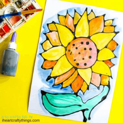Gorgeous Black Glue Sunflower Craft