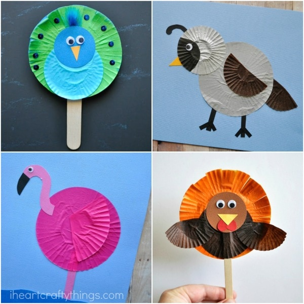 10 Awesome Cupcake Liner Bird Crafts I Heart Crafty Things