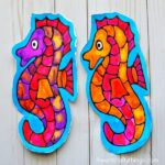 Stunning Seahorse Black Glue Craft