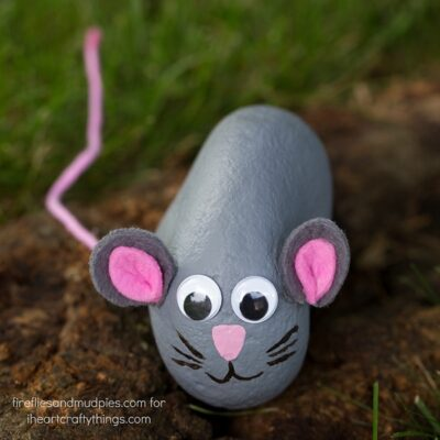 Summer is the perfect season for rock hunting! In this post, learn how to make sweet little Painted Mouse Rocks, perfect for kids of all ages.