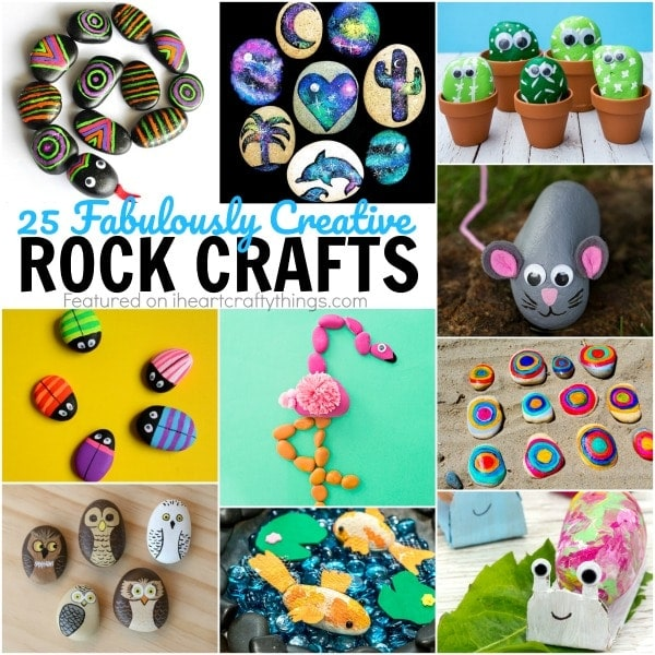 25 Creative Rock Crafts Kids Will Love I Heart Crafty Things