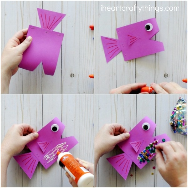 How to Make a Ribbon Fish - YouTube | 600x600