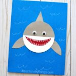 Here's a simple and cute paper shark craft kids will love making for Shark Week. Fun shark week activities for kids and ocean craft for kids.