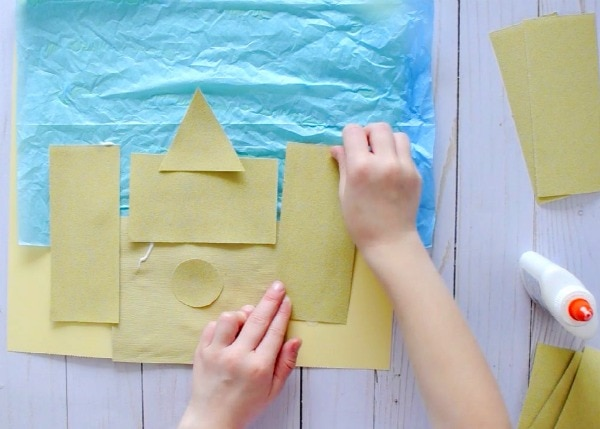 Sand Paper Sand Castle Craft I Heart Crafty Things