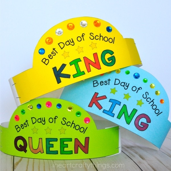 Use these printable back-to-school crowns and Best Day List to have a great first day of school. Fun back-to-school activities for kids.