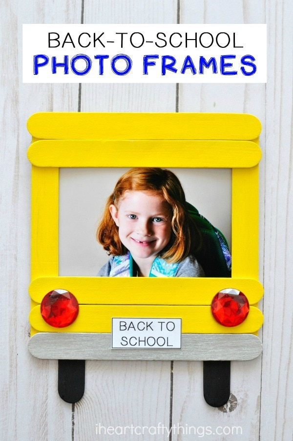 DIY Back-to-School Photo Frame | I Heart Crafty Things