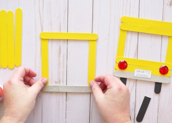 Lovely Yellow School Bus Photo Frame