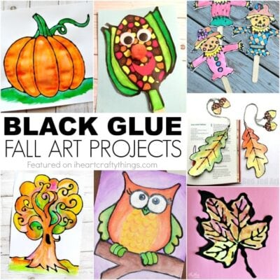 Gorgeous Black Glue Fall Art Projects