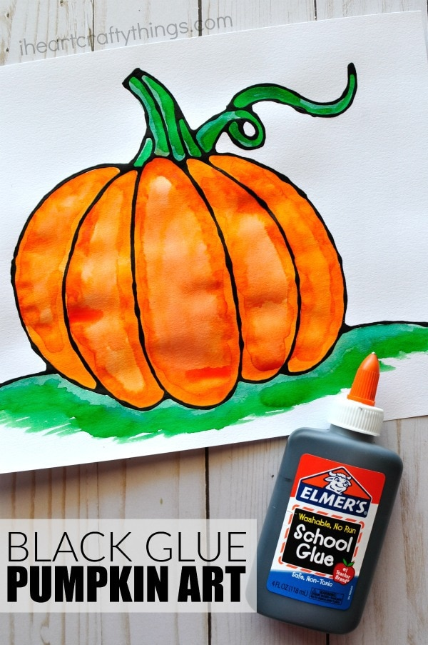 pumpkin crafts for toddlers black glue pumpkin project i crafty things 5298