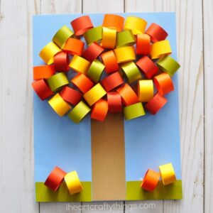 Beautiful Fall Tree Paper Craft
