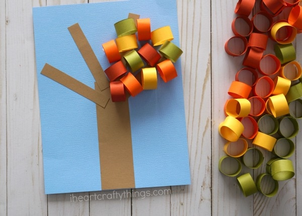 Beautiful Fall Tree Paper Craft I Heart Crafty Things