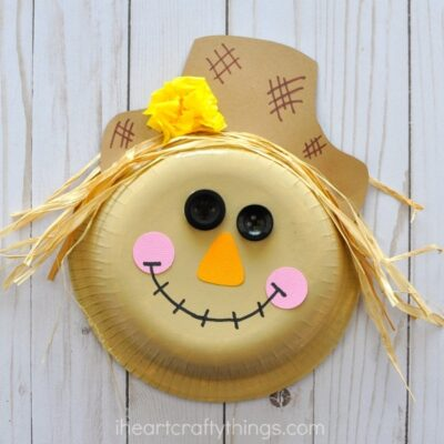 Paper Bowl Scarecrow Craft -Super Cute Fall Craft for Kids!