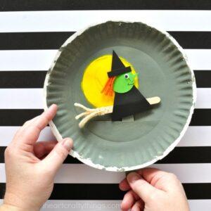 Playful Paper Plate Halloween Craft