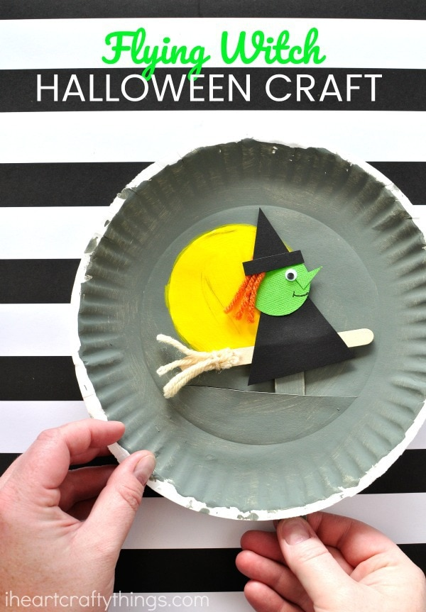 Did you love this paper plate Halloween craft? You might also enjoy these colorful paper plate spiders. This paper plate pumpkin lacing activity is another ... & Playful Paper Plate Halloween Craft | I Heart Crafty Things
