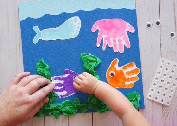 Handprint And Footprint Baby Art Project