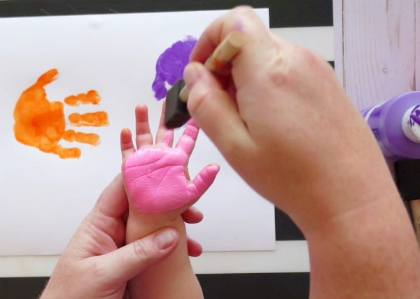 handprint and footprint baby art project i heart crafty things