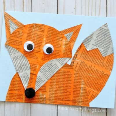 Woodland Animals Newspaper Fox Craft