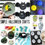 Simple Halloween crafts for kids. Great for Halloween parties, Halloween arts and crafts, Halloween kid crafts and easy Halloween crafts.