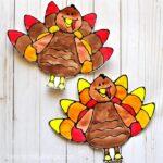 Beautiful black glue turkey art project for kids, black glue art project, turkey craft, Thanksgiving arts and crafts and turkey art projects for kids.
