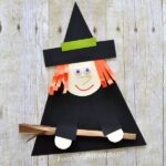 Witch Paper Craft for Halloween