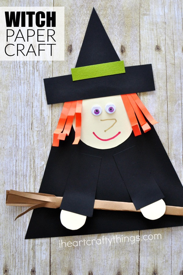 Witch Paper Craft For Halloween I Heart Crafty Things