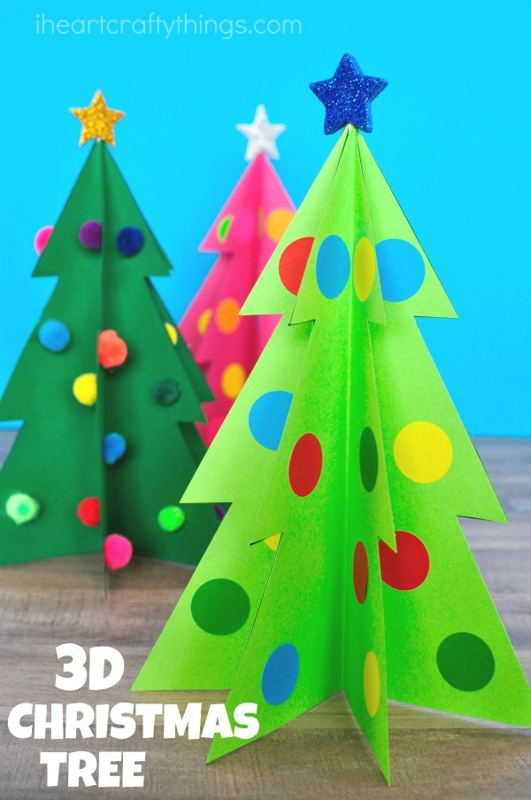 your 3d christmas tree craft is complete - Pictures For Christmas