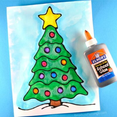 angel beautiful black glue christmas tree art project for kids fun christmas arts and crafts