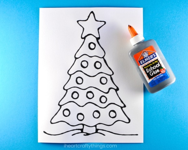 print out the christmas tree pattern on mixed media or watercolor paper if you dont want to purchase the template draw your own christmas tree design on - Christmas Tree Art