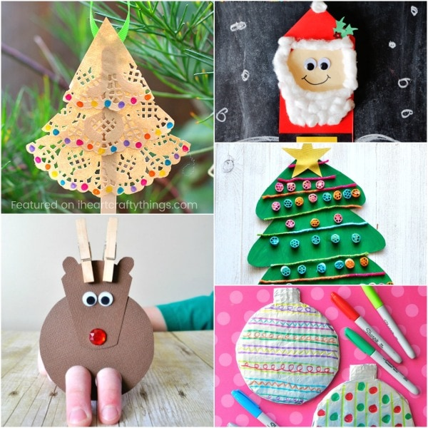 doily christmas tree ornaments - Christmas Decoration Craft Ideas