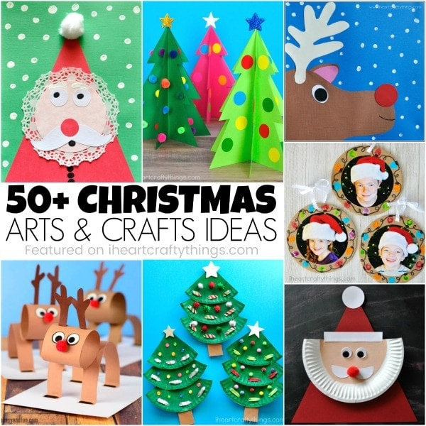 50+ Christmas Arts and Crafts Ideas | I Heart Crafty Things