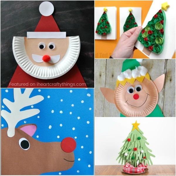 Perfect Paper Plate Santa Craft