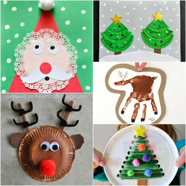 doily santa craft - Christmas Decoration Craft Ideas