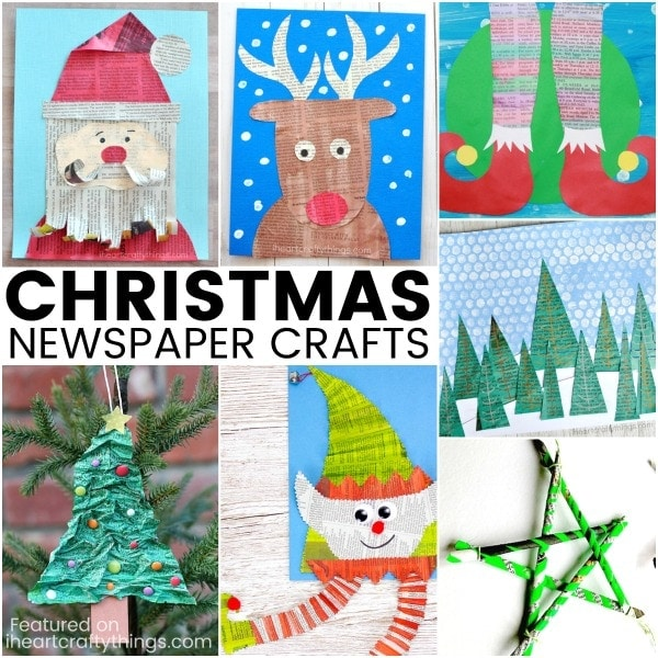 Christmas Newspaper Craft Ideas