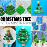 Creative Christmas Tree arts and crafts ideas for kids to make. Fun Christmas crafts, Christmas tree crafts for kids and Christmas arts and crafts ideas.