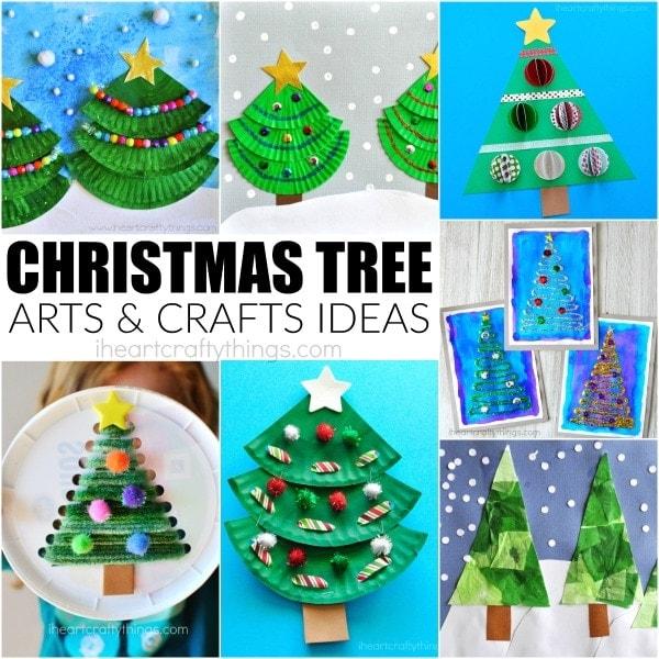 Creative Christmas Tree arts and crafts ideas for kids to make. Fun Christmas crafts, Christmas tree crafts for kids and Christmas arts and crafts ideas.