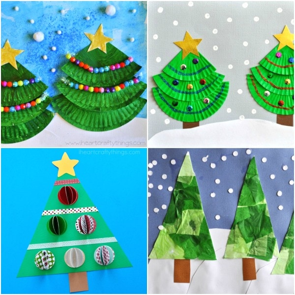 Christmas Arts And Crafts Ideas For Preschool Part - 28: Creative Christmas Tree Arts And Crafts Ideas For Kids