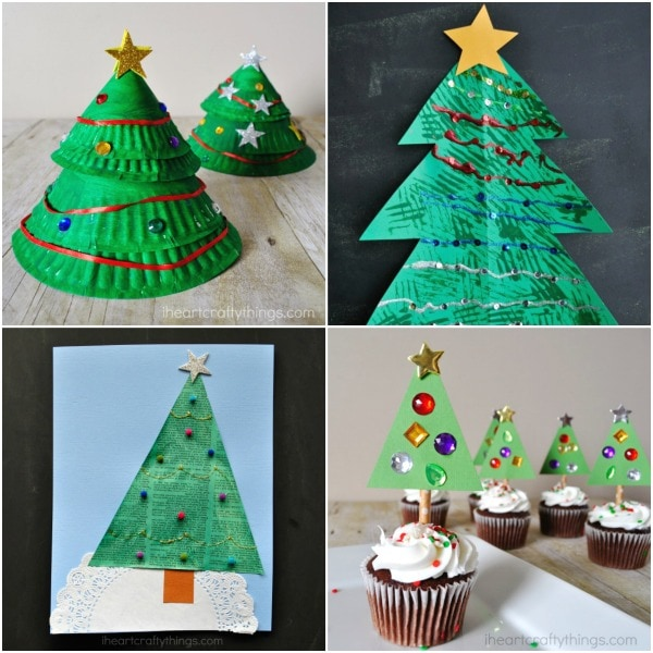 Christmas Arts And Crafts Ideas For Preschool Part - 36: Paper Plate Layered Christmas Tree Craft