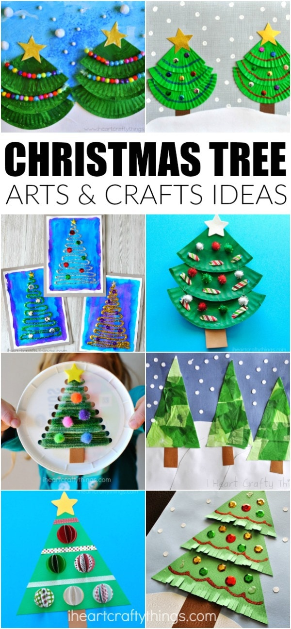 Christmas Tree Art.Creative Christmas Tree Arts And Crafts Ideas For Kids