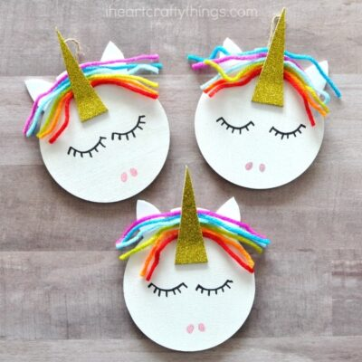 I heart crafty things for Unicorn crafts for kids