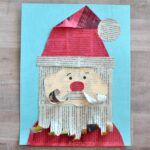 This adorable newspaper Santa Claus craft makes a great Christmas kids craft, Santa kids craft, newspaper kids craft and mixed media art project for kids.