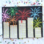 Mixed Media New Year's Eve Fireworks Craft