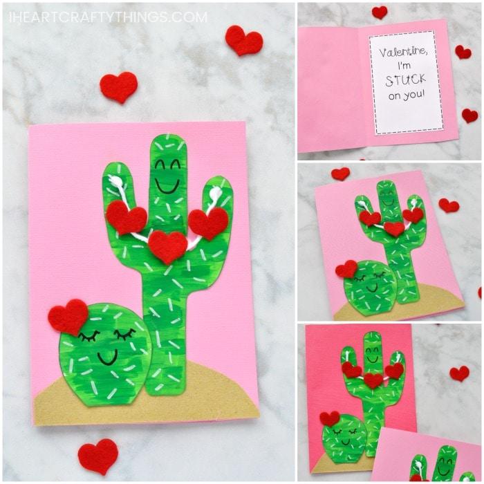 DIY Cactus Valentine Card for Kids