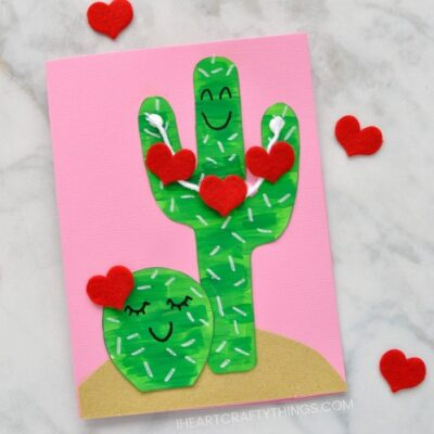 DIY Cactus Valentine Card for Kids